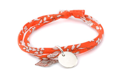 Bracelet cordon liberty capel orange