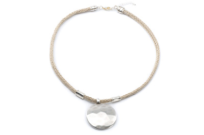 COLLIER CORDE POLY 7MM beige