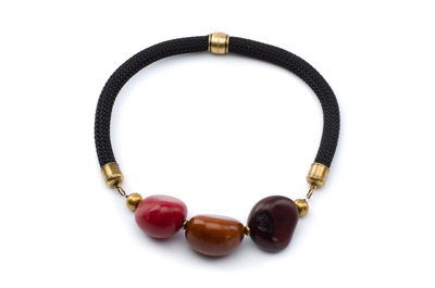 COLLIER COURT TAGUA noir, bordeaux