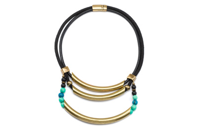COLLIER TUBE ACAI bronze