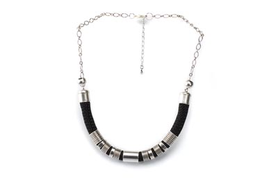COLLIER SIMPLE CORDE noir