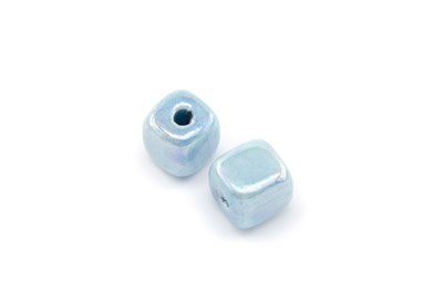 cube 12mm turquoise clair x1pc