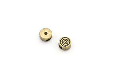 passant rond spirale 10mm bronze antique x1pc
