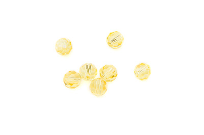 perle ronde à facette 8mm jaune x10pcs