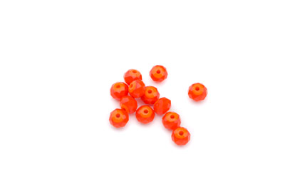 rondelle à facette 5x6mm orange opaque x10pcs