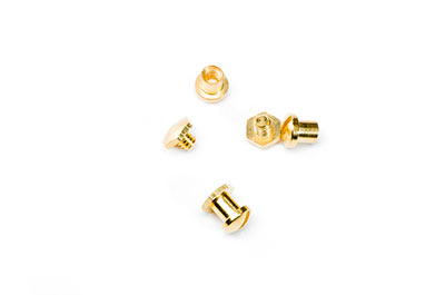 vis rivet rond 6x7mm doré x1pcs