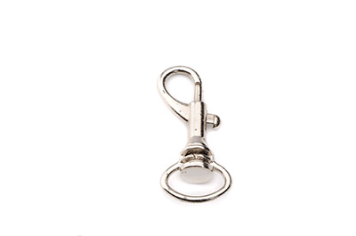 porte clef mousqueton 40x17mm rhodium x1pc