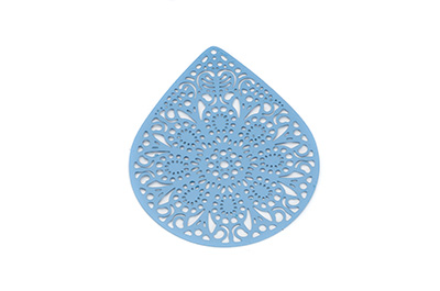 laser cut goutte 49x39mm bleu montana x1pc