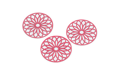 laser cut rond 24mm rouge x1pc