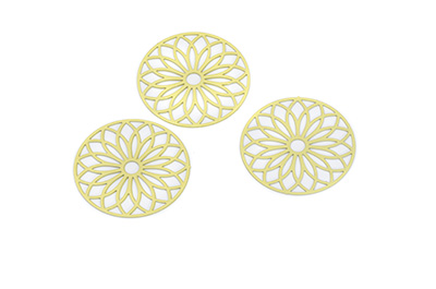 laser cut rond 24mm jaune x1pc