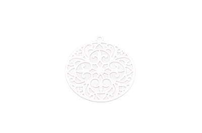 laser cut rond 30mm rhodium x1pc