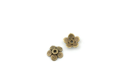 calotte bronze 11mm   x1pc