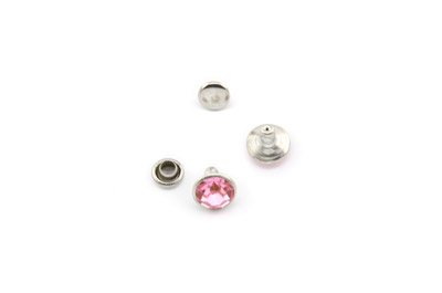 rivet à clipser 8mm rose x1pc