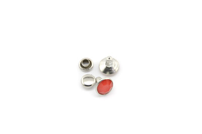 rivet à clipser 8mm rouge x1pc