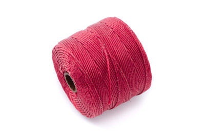 fil nylon torsadé 0,6mm bordeaux x5m