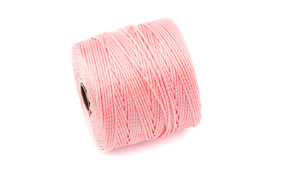 fil nylon torsadé 0,6mm rose corail x5m