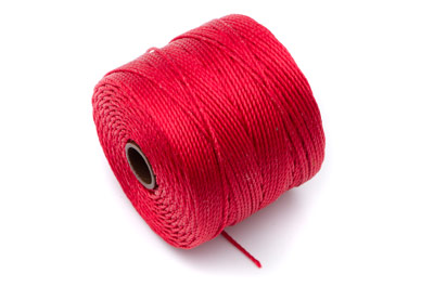 fil nylon torsadé 0,6mm rouge x5m