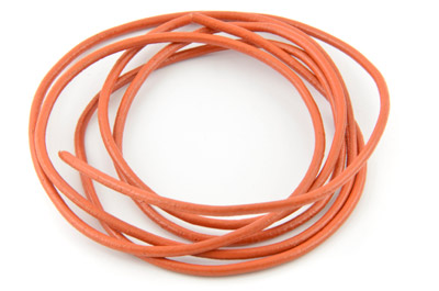 cordon de cuir 2mm orange x1m