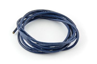 cordon de cuir 2mm bleu denim x1m