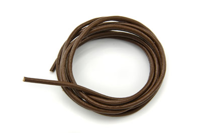 cordon de cuir 2mm marron x1m