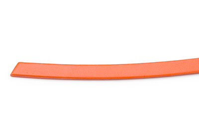 cuir plat 6mm orange x10cm