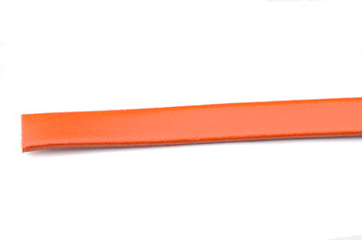 cuir plat 10mm orange x10cm