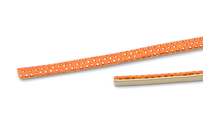 lanière lezard 5mm orange x10cm