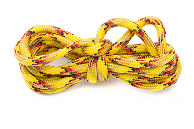 paracord 4mm multi jaune x1m