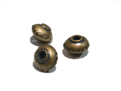 perle bronze 12*8mm x1pc