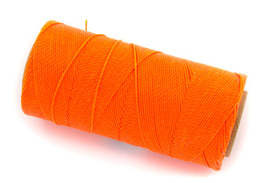 fil polyester ciré orange fluo x1m