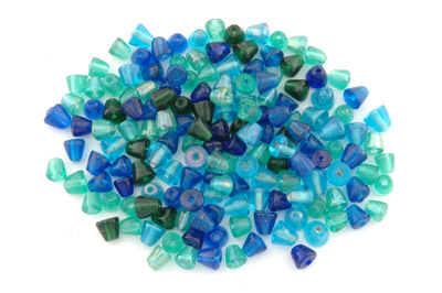 assortiment de perles cône 8mm turquoise teal brillant 100g