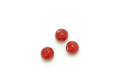 perle ronde 8mm rouge groseille x10pcs