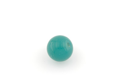 perle ronde 20mm turquoise vert x1pc