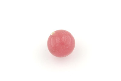 perle ronde 20mm rose x1pc