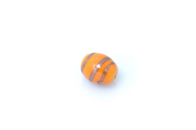 perle enroulé olive 16*14mm orange brillant x1pc