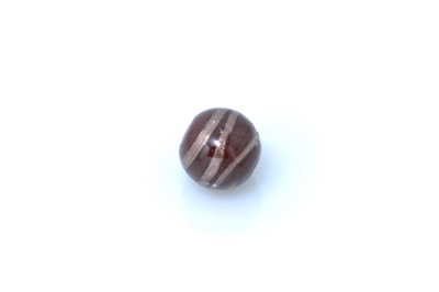 perle enroulé ronde chocolat brillant 15mm x1pc