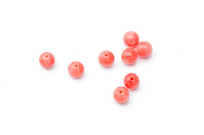 corail bambou orange ronde 6mm  x10pcs