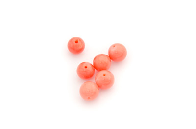 corail balbou rose-orange ronde 8mm  x1pc