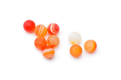 agate orange mat ronde 8mm  x10pcs