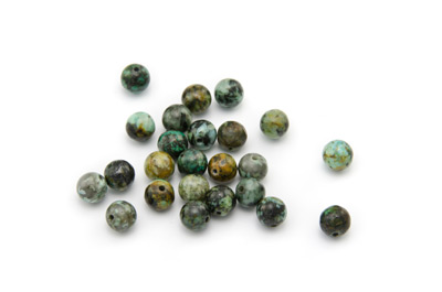 perle africaine turquoise ronde 6mm x1pc