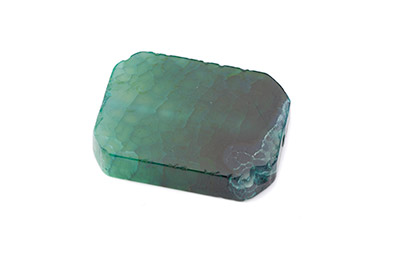 agate rectangle env 42x30mm vert x1pc