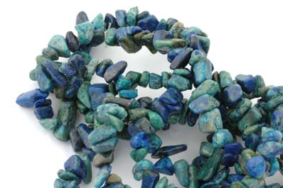 chips chrysocolle 5 à 8mm  x1 fil 40cm