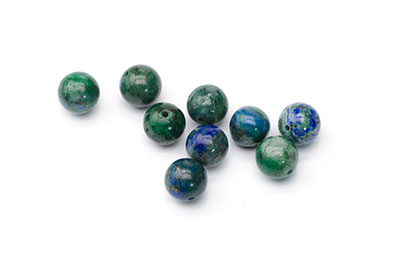 perle chrysocolle ronde 8mm  x1pc