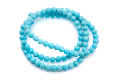 howlite turquoise ronde 4mm x25pcs