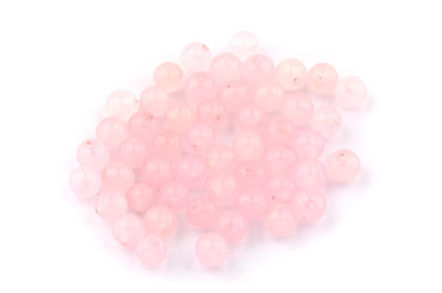 perle jade rose ronde 6mm x1 fil (env 64pcs) 6mm x30pce
