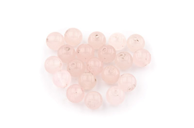 perle jade rose ronde 8mm x1pc