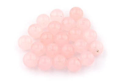 perle jade rose ronde 10mm x1pc
