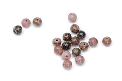 perle rhodonite rouge 6mm x10pce