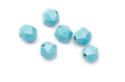 5 PERLES COURONNE TURQUOISE PIERRE SYNTHETIQUE 19x25x4mmmm MIX Couleurs DIY