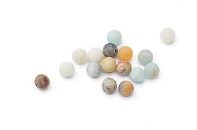 perle amazonite multicolore mat ronde 6mm  x10pcs